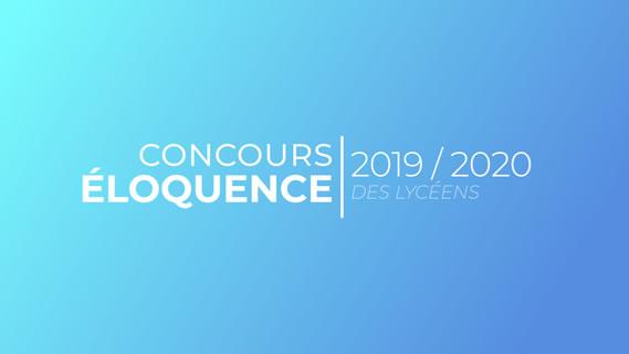 Replay Concours d'eloquence des lyceens - Samedi 30 mai 2020